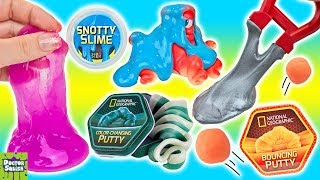 MEGA SLIME & PUTTY LAB! Glow Putty & DIY Slime From National Geographic Doctor Squish