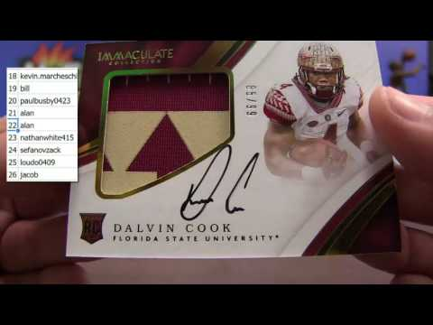8/6 - 2016-17 Immaculate Collegiate NFL & NBA Double Case Random Number #2