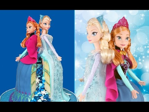 FROZEN Sisters Piñata Cake! Queen Elsa AND Princess Anna in the SAME CAKE