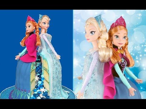 FROZEN Sisters Piñata Cake! Queen Elsa AND Princess Anna in the SAME CAKE