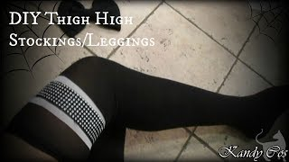 DIY Stockings to Thigh Highs **EASY**