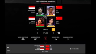 LIVE SCORE BADMINTON and Chat Fuzhou China Open 2018