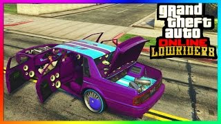 "GTA 5 Online ""LOWRIDER DLC"" - ""Albany Primo"" All Paint jobs, Hydraulics & Interiors! [Customized]"