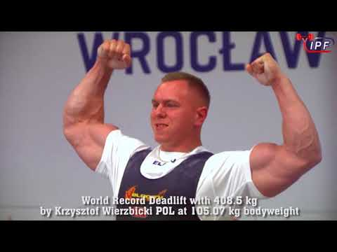 World Records Deadlift (388, 408.5, 420 kg) by Krzysztof Wierzbicki POL at The World Games 2017