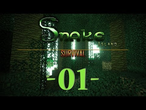 Snake Island Survival Minecraft #01