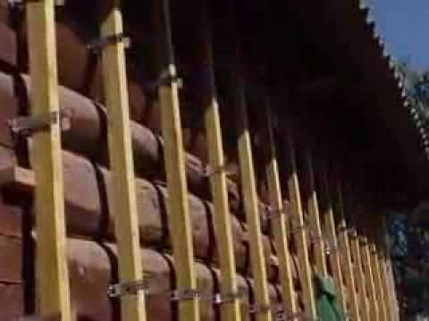 Обшивка бревенчатого дома сайдингом своими руками