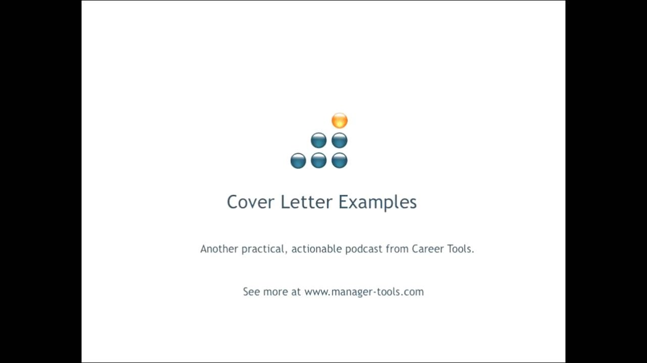 cover letter examples youtube