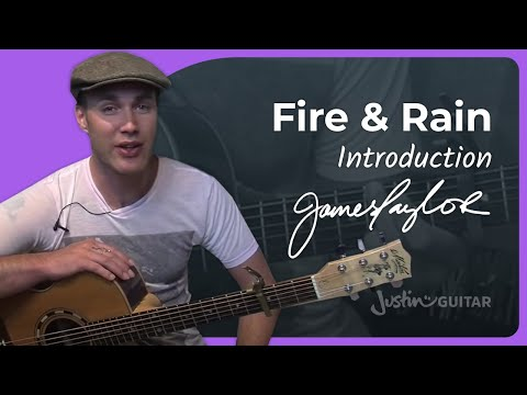 Fire And Rain - James Taylor #1of2 (Songs Guitar Lesson ST-624) How To Play