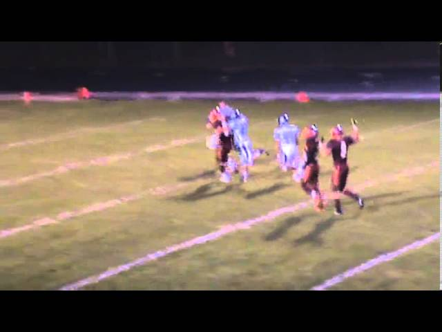 9-27-13 - It's a pickup of 55 yards from Kyle Rosenbrock to Calin Brandt after the penalty