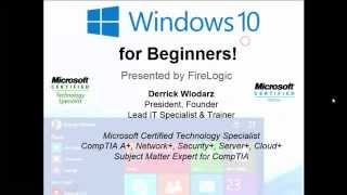 Windows 10 for Beginners - LIVE at Lincolnwood Library (9-13-2015)