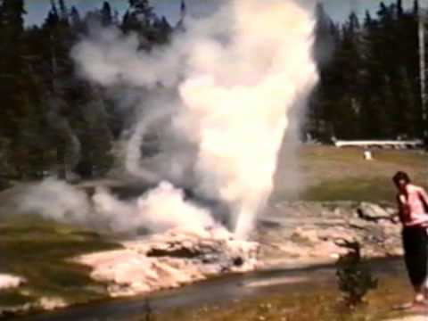 Daisy and Riverside Geyser Yellowstone 1958