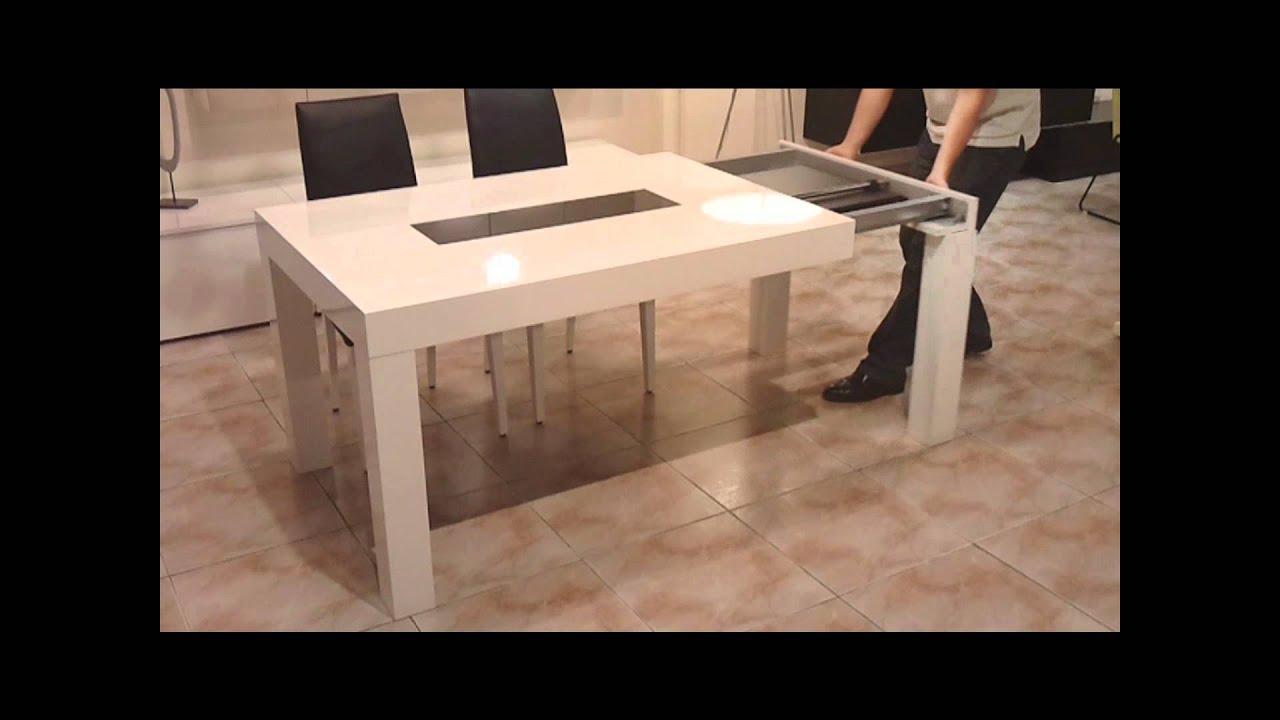 Mesa de comedor youtube for Mesas de cristal extensibles para comedor