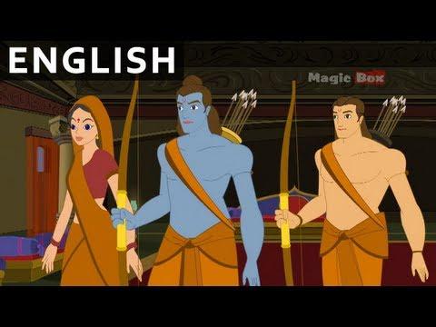 Rama In Chitrakoot - Ramayanam In English - Animation/Cartoon Stories For Kids