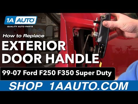 How to Install Replace Outside Door Handle Ford F250 F350 Super Duty 99-07 1AAuto.com