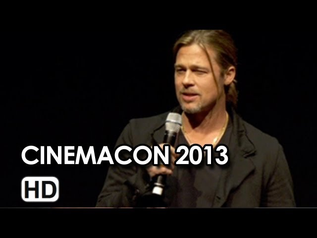 Brad Pitt Introduces World War Z Footage at CinemaCon 2013 HD