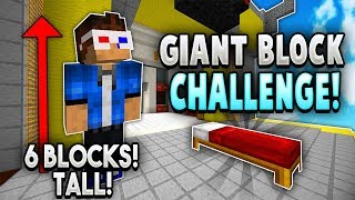 GIANT Block Bedwars Challenge! dont do this..