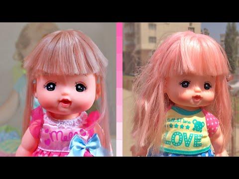 Кукла меняет цвет волос