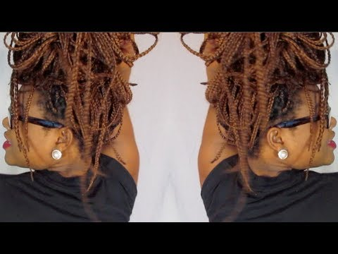 5 quick amp easy styles for box braids mrsciararae youtube