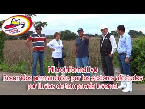 Microinformativo - Recorridos en sectores afectados por lluvias