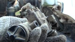 BENDIX AIR BRAKE COMPRESSOR GOVERNOR REPLACEMENT , AND COLD START !!!