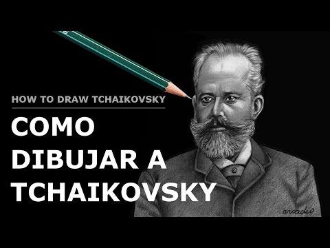 COMO DIBUJAR A TCHAIKOVSKY./How to draw Tchaikovsky.