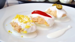 Tuna-Stuffed Eggs - Easy Hard-Boiled Egg Appetizer Recipe