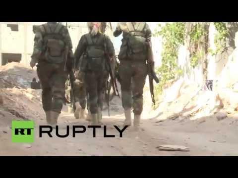Syria: Syrian Arab Army all-female brigade battles militants in Darayya
