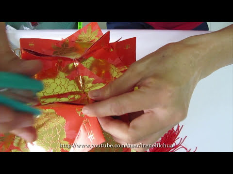 TUTORIAL - How to make a Ornamental Hong Bao Flower Ball (彩球, 花球)  )