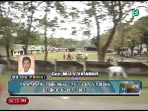 WeekendNews: Panayam kay Gov. Mujiv Hataman ng ARMM, tungkol sa GPH-MILF peace deal