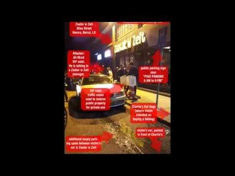 Zaatar w Zeit VIP valet physically attacks customer; Police fine victim!