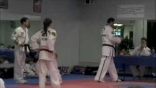 Black Belt Testing Board Breaking- December 2009