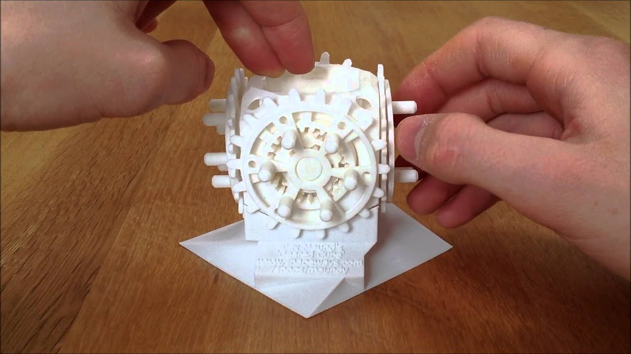 3d printed 39 28 geared cube 39 printed fully assembled Where can i print 3d objects