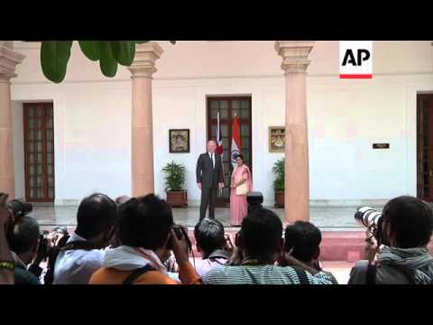 British Foreign Secretary meets Indian counterpart