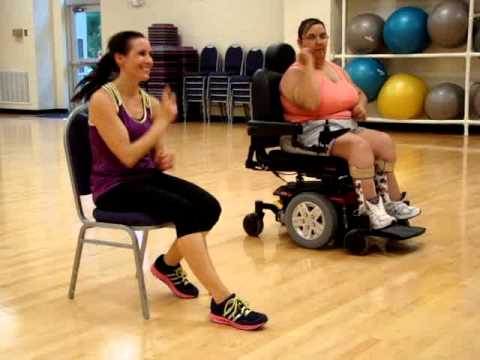Wheelchair seated zumba on the floor jennifer lopez for Chair zumba