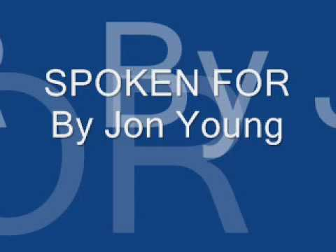 Jon Young- Spoken For W  Lyrics video