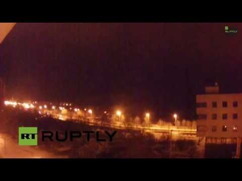 Massive overnight shelling at Donetsk airport