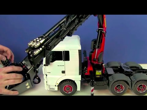Review of an Incredible RC Truck 6x6 with Palfinger Crane