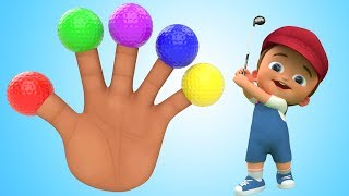 Little Baby Soccer Balls 3d Finger Family Rhymes for Kids Children Toddler Educational Videos