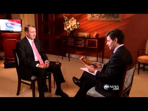 John Boehner Interview: Debt Limit; Mitt Romney; Jeremiah Wright