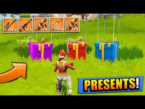 LEGENDARY CHRISTMAS PRESENTS in Fortnite: Battle Royale!