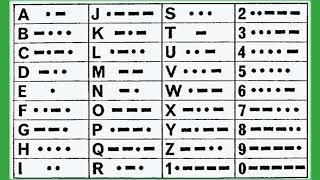 Morse code / the morse alphabet