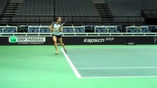 Entrenamientos pre-sorteo Andrea Petkovic y Lucie Safarova
