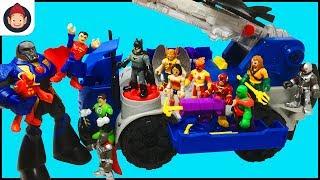 Imaginext Batman RC Mobile Command Center Unboxing Toy Video - Justice League Battles Darkseid