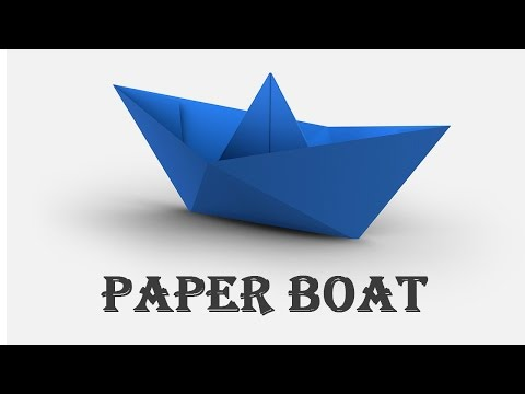 How to Make a Paper Boat, origami : Fast & Easy..