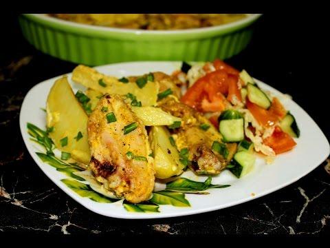 Рецепт ну очень нежной картошки с курицей