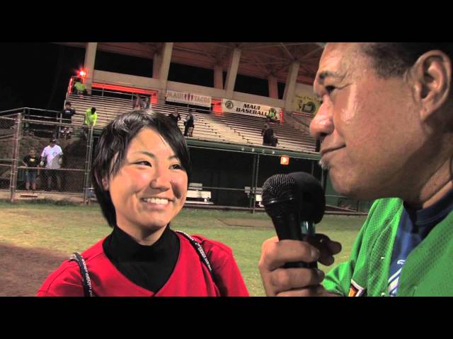 06/19/13 Eri Yoshida Pitcher Interview - Na Koa Ikaika Maui vs. The Santa Rosa Rose Buds