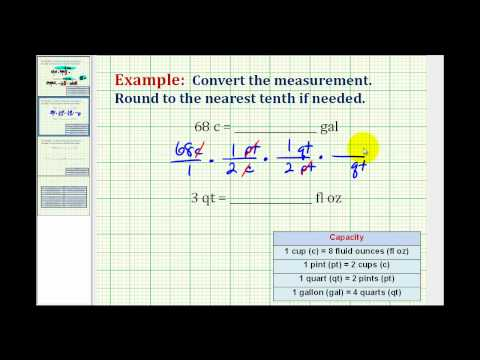 Examples:  Converting Between Different Units of Volume in Standard or American System