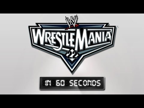 Wrestlemania In 60 Seconds: Wrestlemania 22 video