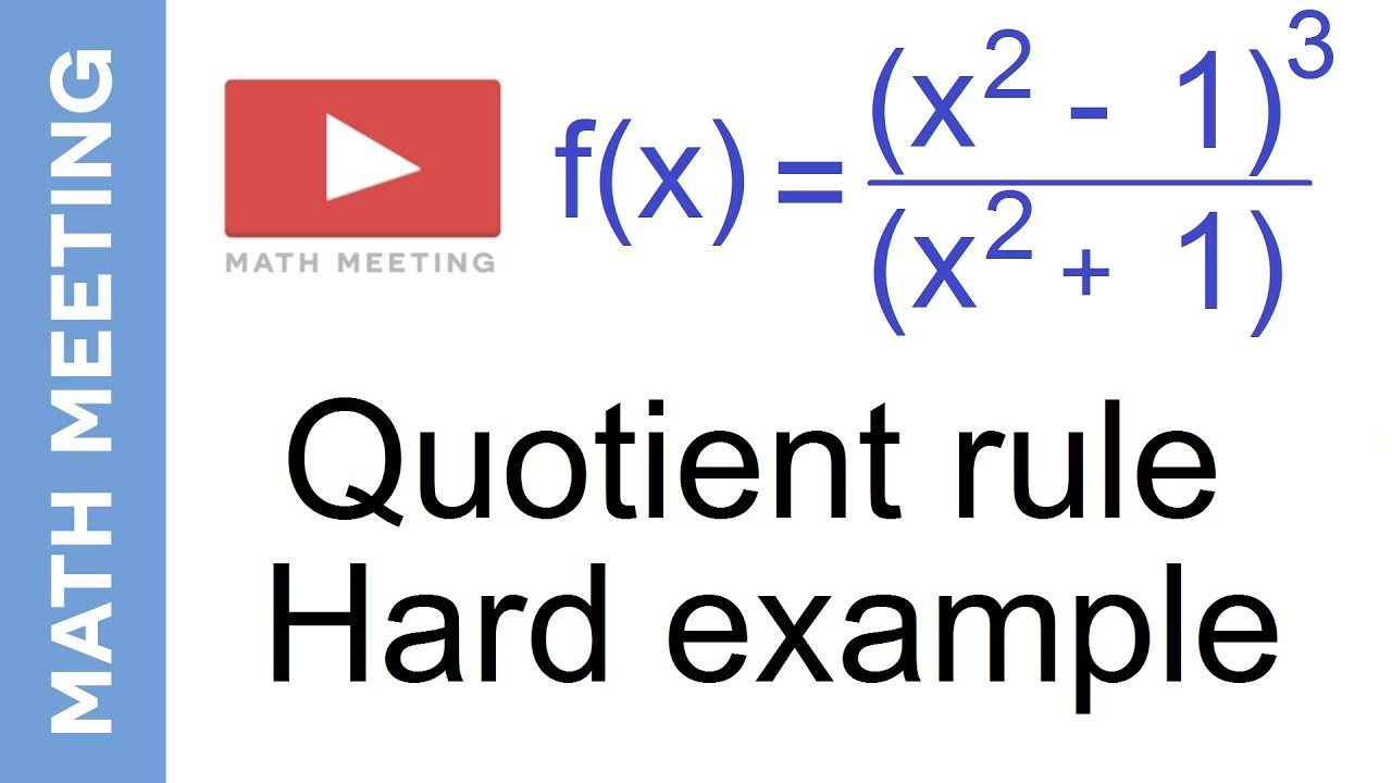 Quotient Rule  University of California Davis