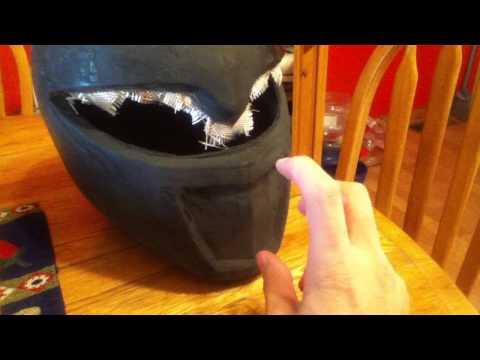 white ranger pepakura helmet update 2